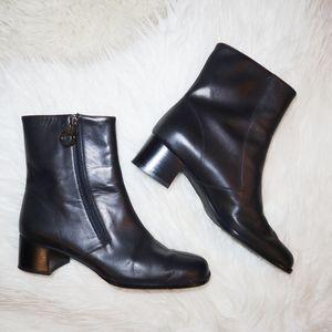 Salvatore Ferragamo Gancini Ankle Boots - 5.5